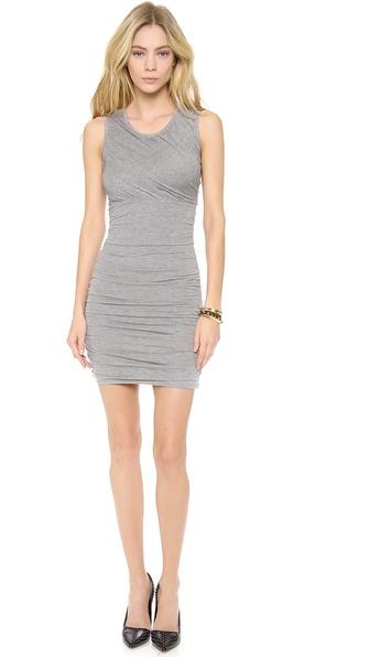 Diane Von Furstenberg Angelina Ruched Jersey Dress - Grey Melange