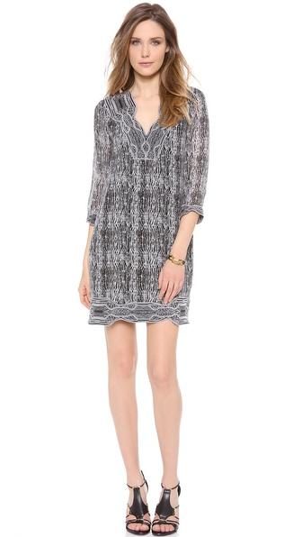 Diane von Furstenberg Lexie 3/4 Sleeve Tunic Dress