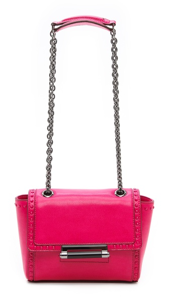 Diane von Furstenberg 440 Mini Faceted Studded Shoulder Bag
