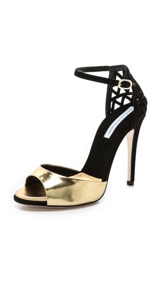 Diane von Furstenberg Rowan Metallic Sandals