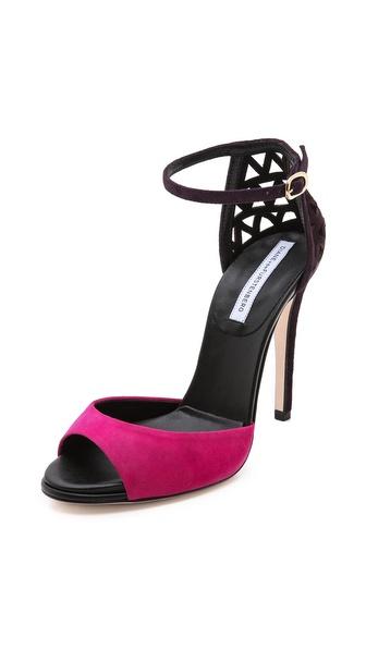 Diane von Furstenberg Rowan Suede Sandals