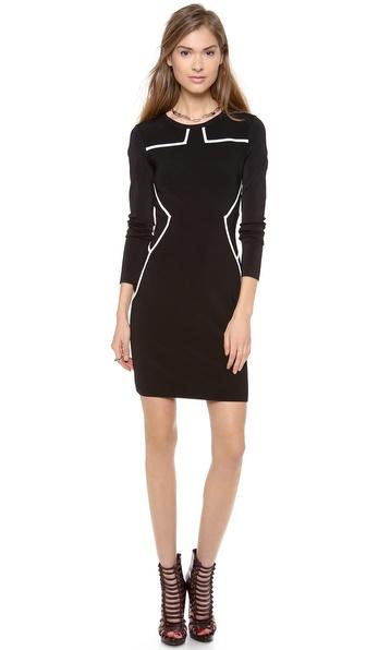 Diane Von Furstenberg Josephine Dress - Black/Ivory