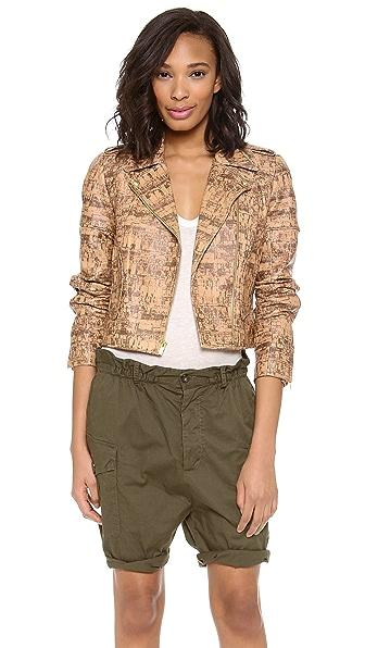 Diane von Furstenberg Theodora Print Leather Jacket
