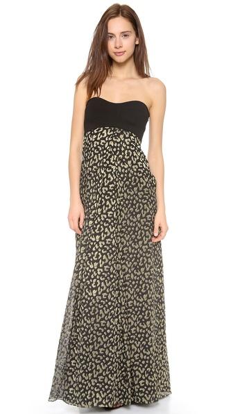 Diane Von Furstenberg Adrianna Maxi Dress - Black/Gold