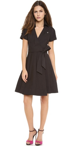 Dvf Amelia Lace Combo Wrap Dress Diane von Furstenberg Kaley