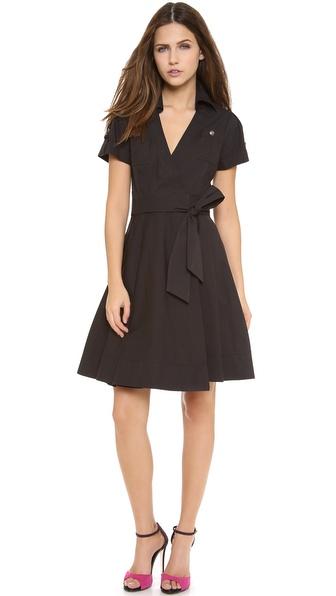Diane Von Furstenberg Kaley Collared Wrap Dress - Black