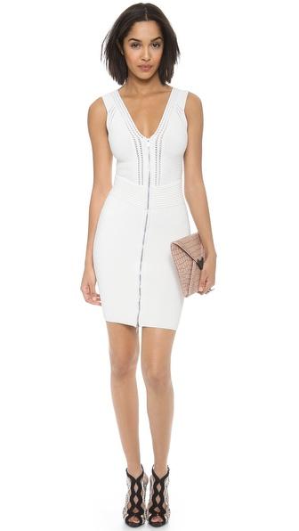Diane Von Furstenberg Barcelona Body Con Dress - White
