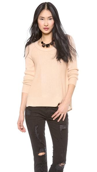 Diane von Furstenberg Ivory Cashmere Sweater