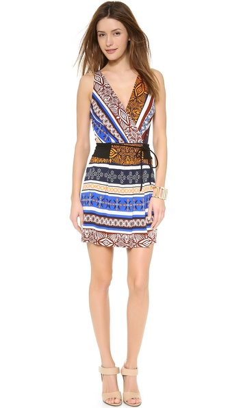 Diane von Furstenberg New Oblixe Mini Wrap Dress