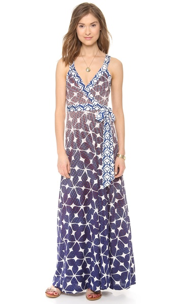Diane Von Furstenberg Samson Maxi Dress - Simple Batik/Ikat Batik