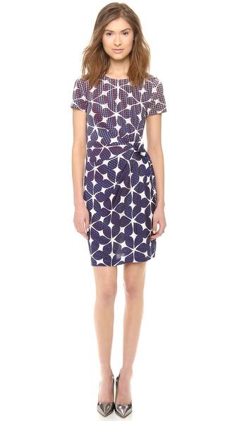 Diane Von Furstenberg Zoe Dress - Simple Batik Blue