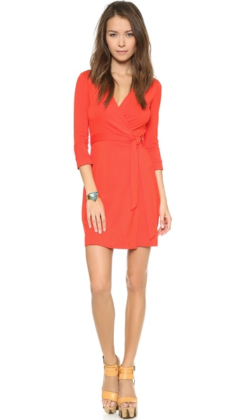 Diane Von Furstenberg New Julian Wrap Dress - Chili Pepper