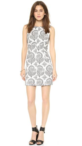 Diane Von Furstenberg Carpreena Mini Floral Dress - Black/White