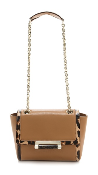 Diane Von Furstenberg 440 Mini Satchel With Exotic Print - Sandalwood/Leopard