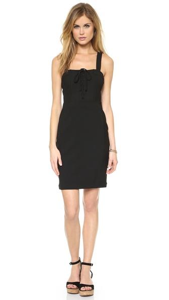Diane Von Furstenberg Scottland Lace Up Dress - Black