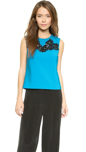 Diane von Furstenberg Betty Embellished Tank