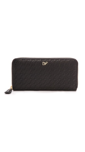 Diane von Furstenberg Chainlink Quilted Leather Continental Wallet