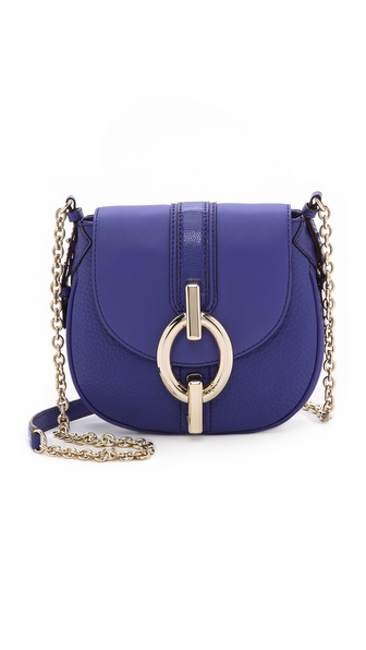 Diane von Furstenberg Sutra Mini Mixed Leather Cross Body Bag