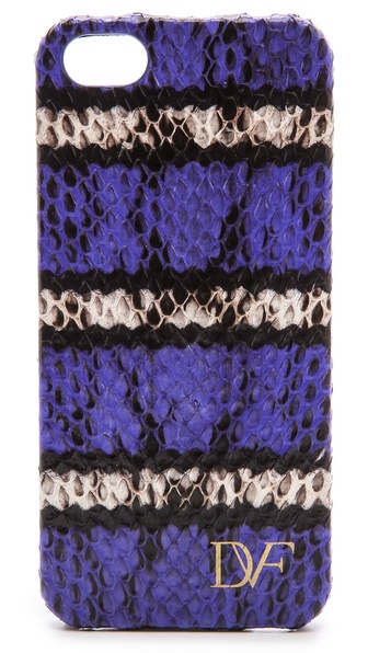 Diane von Furstenberg iPhone 5 / 5S Striped Snake Case
