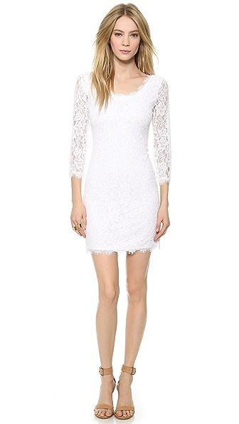 Kupi Diane von Furstenberg haljinu online i raspordaja za kupiti Diane Von Furstenberg Zarita Scoop Dress White/White online