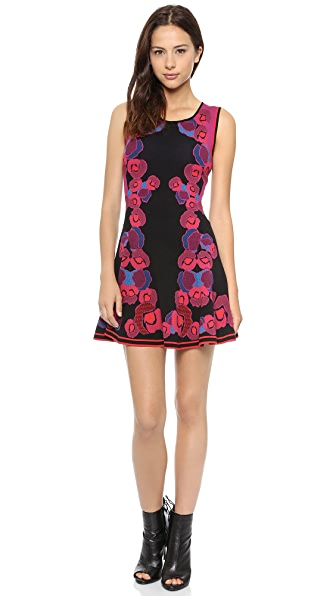 Diane von Furstenberg Sleeveless Jacquard Body Con Dress