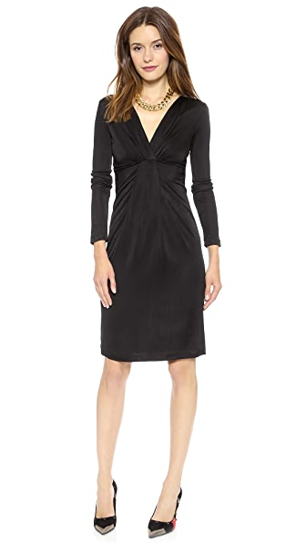 Diane von Furstenberg Long Sleeve V Neck Dress