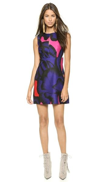 Shop Diane von Furstenberg online and buy Diane Von Furstenberg Yvette Dress Poppy Leopard Placement Pink online