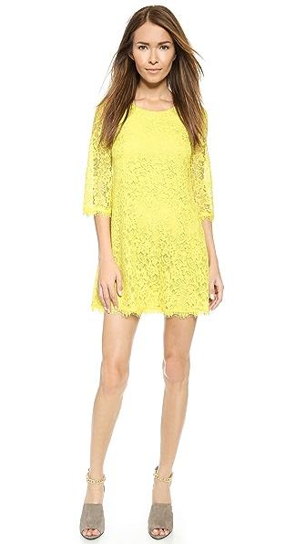 Kupi Diane von Furstenberg haljinu online i raspordaja za kupiti Diane Von Furstenberg Martina Lace Dress Chartreuse online
