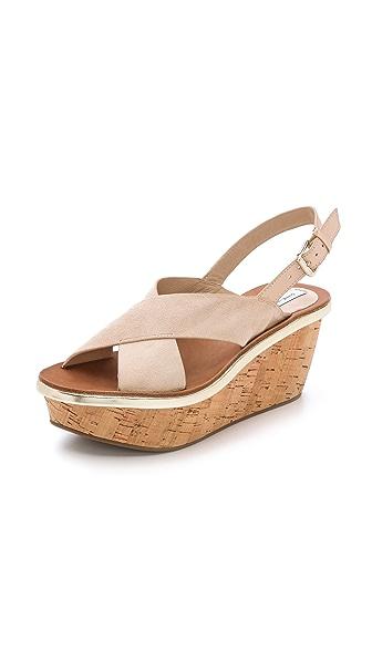 Diane Von Furstenberg Diane Von Furstenberg Maven Suede Sandals (Beige\/Sand\/Tan)