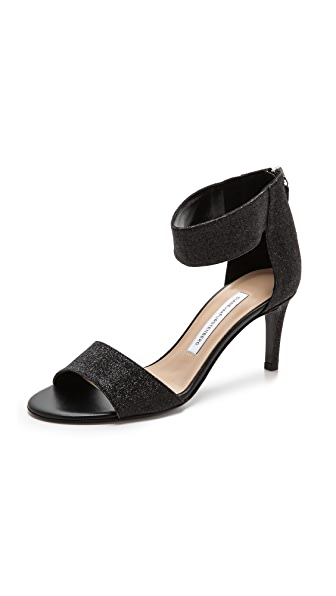 Diane Von Furstenberg Diane Von Furstenberg Kinder Ankle Strap Sandals (Black)
