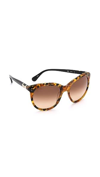 Diane Von Furstenberg Riley Sunglasses - Amber Tortoise