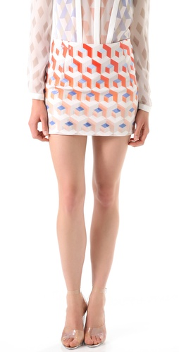 Dion Lee Element Print Miniskirt