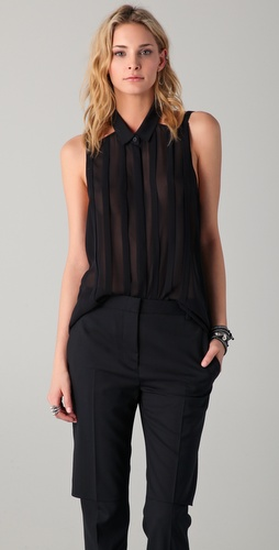 Dion Lee Floating Pleat Shirt