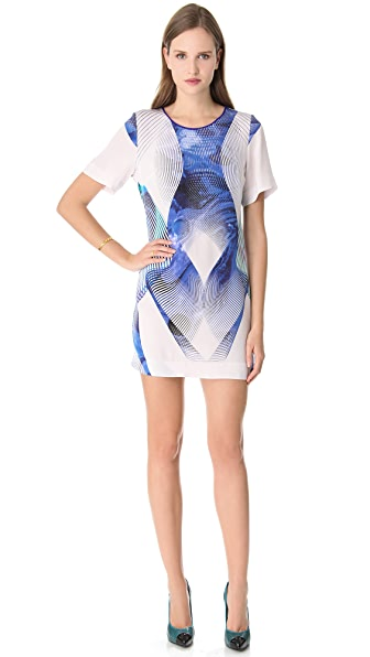 Dion Lee Linear Print Tee Dress