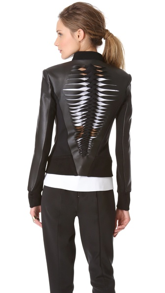 Dion Lee Filter Leather Biker Jacket