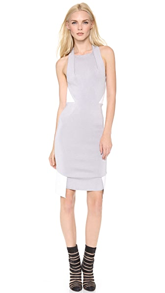 Dion Lee Knit Leather Dress