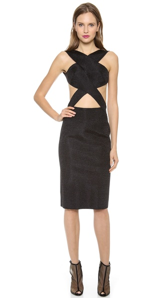 Dion Lee Vertigo Backless Knit Dress