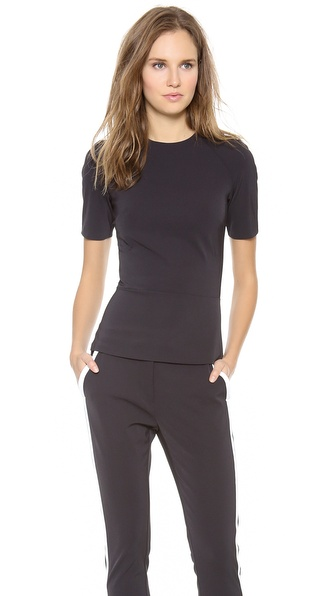 Dion Lee Peplum Racer Top