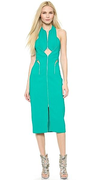 Kupi Dion Lee haljinu online i raspordaja za kupiti Dion Lee Zip Lock Dress Emerald online