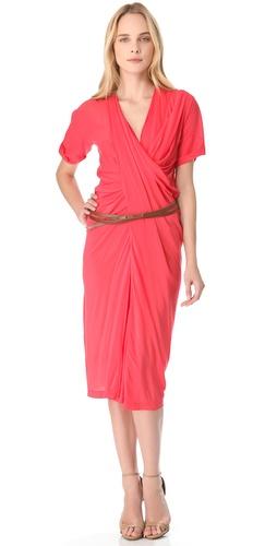 Donna Karan New York Belted Asymmetrical Dress