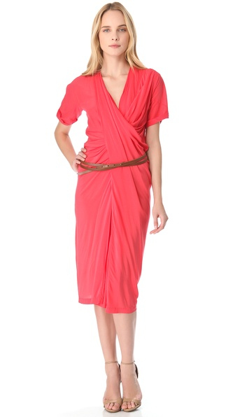 Donna Karan New York Belted Asymmetrical Dress