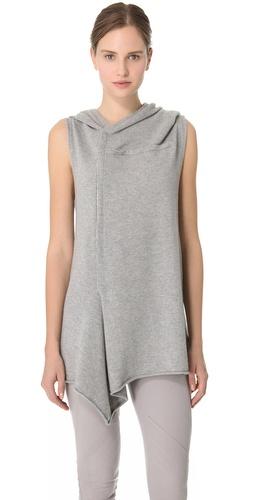 Donna Karan New York Sleeveless Hooded Tunic