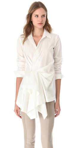 Donna Karan New York Side Draped Tunic Top