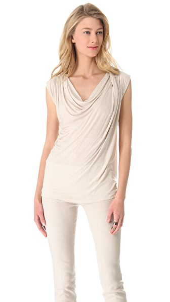 Donna Karan New York Sleeveless Draped Top