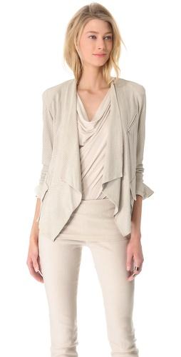 Donna Karan New York Cozy Perf Suede Jacket