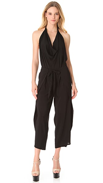 Donna Karan New York Halter Wrap Jumpsuit