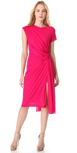 Donna Karan New York Low Back Draped Dress