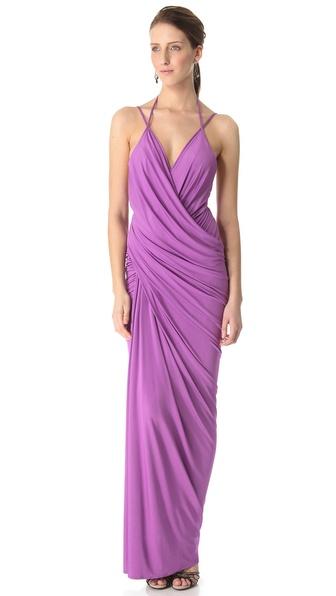 Donna Karan New York Plunge Evening Gown