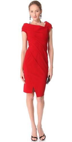 Donna Karan New York Sculpted Cap Sleeve Dress