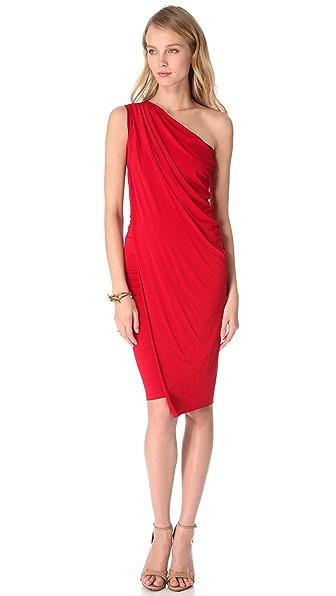 Donna Karan New York One Shoulder Cocktail Dress